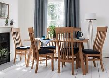 Dining Set Table & Chairs Oak with Choice of Chairs and Leather or Fabric Bosham