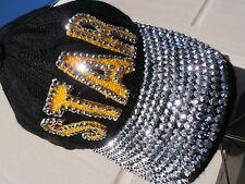 BEJEWELED cap SEXY STAR hat handmade BASEBALL CAP UNISEX ROCKER STUDDED BLING