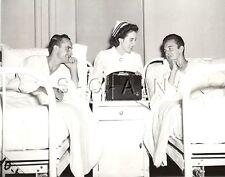 WWII Org US Press Photo- Radio- Red Cross Nurse- WIA- Army Navy Football Game