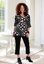 Damenblusen,-Tops & -Shirts im Blusen-Stil mit V-Ausschnitt und Gepunktet für Freizeit