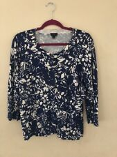 Blue And Ivory Talbot Button Up Sweater Sz L  Nwot
