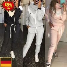Damen Trainingsanzug Jogginganzug Kapuzenpullover Hose Set Fitness Sportanzug DE