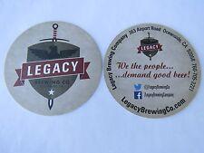 Beer COASTER ~ LEGACY Brewing Company ~ Oceanside, CALIFORNIA ~ We the People...