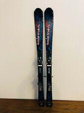New listing Salomon Opal Women's Downhill Skis 138 cm. Salomon 609 Demo Bindings Fresh Tune!
