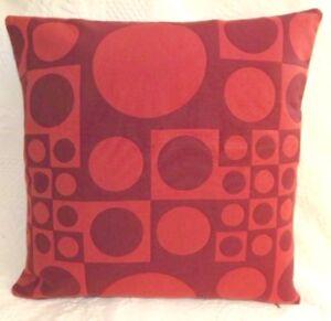 Maharam GEOMETRI Carmine RED Bold Modern Mid Century Contemporary Pillow