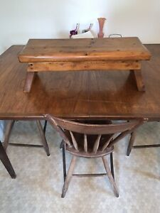 Vintage Thick Wooden Stool 24x9x9-Pegged-Gorgeous!
