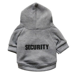 Classical Security Dog Clothes Chihuahua Puppy Hoodie Fleece Warm Dog Jacket