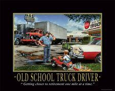 Semi Truck Driver Motivational Poster Art Print Patch Trucker GPS  PRO17