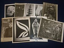 1930'S - 1990'S ART & SCULPTURE PRESS PHOTOS LOT OF 26 - STAMPED - J 1789