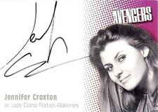 Avengers Series 2 Auto Card A4 Jennifer Croxton as Lady Diana Forbes-Blakeney