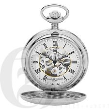 Mechanical Pocket Watch W/ Chain 3564 New Charles-Hubert Double Demi Hunter Case