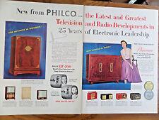 1954 Philco TV Television Radios Ad
