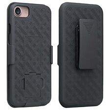 Apple iPhone 8 Belt Clip Holster Combo Cell Phone Case With Kick Stand Cover