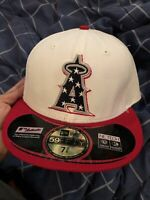 RARE New Era MLB Los Angeles Angels Camo 59FIFTY FITTED Cap Hat  7 3/8 JULY 4th