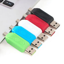 Memory Card Reader Micro USB OTG to USB 2.0 Adapter SD/Micro SD Card UK  3 in 1