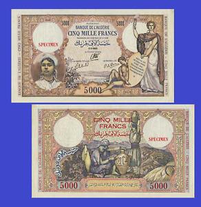 Algeria 5000 francs 1942 UNC - Reproduction