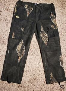 NWT Mossy Oak Hunting Cargo Pants Mens XL Break-Up Camouflage Eclipse 6 Pocket