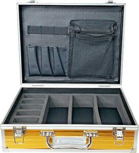 Vincent Travel Barber Clipper Trimmer Blade Tool Case Small (GOLD) VT10143-GD