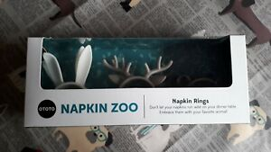 Zoo napkin rings by OTOTO
