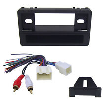 Radio Replacement Dash Kit 1-DIN w/Pocket & Amp Retain Harness for Ford/Lincoln