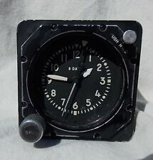 Cold War USAF USN USMC 8 Day Aircraft Clock, Keeps Great Time