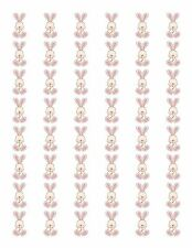 "48 PINK GIRL BABY BUNNY ENVELOPE SEALS LABELS STICKERS 1.2"" ROUND"