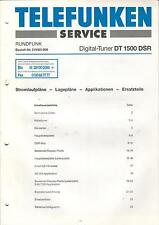 Telefunken service INSTRUCTIONS MANUAL radio tuner numérique DT 1500 DSR b494