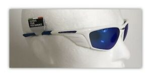 Rudy Project ZYON Sunglasses WHITE Frame With BLUE Mirror Lenses & Side Shields