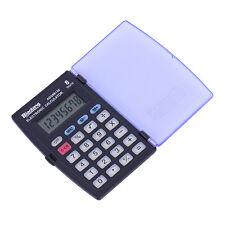 Mini 8-Digit Pocket Clamshell Calculator Large Display Powered Office School