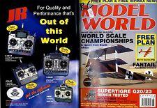 RADIO CONTROL MODEL WORLD MAGAZINE 1998 AUG SUPERTIGRE G20/23, JEPE F-16 (EDF)