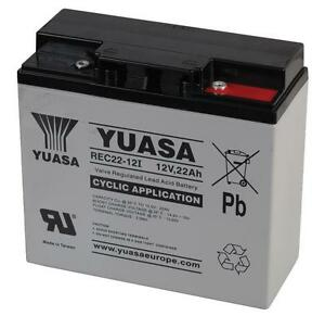 2 (Pair ) x YUASA 12V 22AH AGM LEAD MOBILITY SCOOTER & WHEELCHAIR BATTERIES