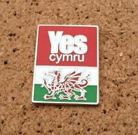 *NEW* YES CYMRU/WALES  - Independence/Annibyniaeth - Welsh Flag PIN/BADGE