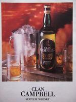 PUBLICITÉ DE PRESSE 1983 CLAN CAMPBELL SCOTCH WHISKY