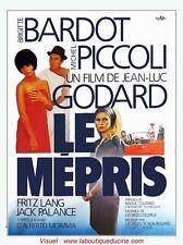 LE MEPRIS Affiche Cinéma Movie Poster 53x40 BRIGITTE BARDOT GODARD
