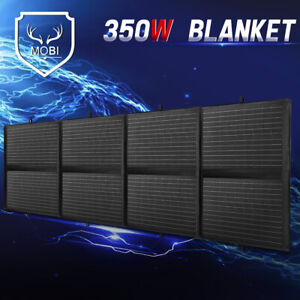 MOBI 350W 12V Folding Solar Panel Blanket Mono Caravan Camping Charging Battery