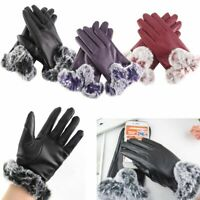 Women's Ladies Genuine Lambskin Leather Gloves Winter Warm Driving Soft Lining