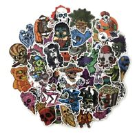 Horror Movie & TV Decal Stickers Assorted Lot of 50 Pieces
