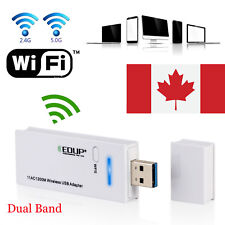 AC1200 Dual Band WiFi USB Dongle WPS 2.4/5G Network Adapter  Windows Linux Mac