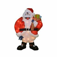 ProductWorks 24-Inch Pre-Lit Bumble Santa Christmas Yard Decoration, 35 Lights