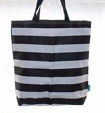 St Tropez Black & White Canvas Beach / Shop / Shoulder Bag
