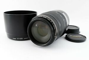 """Canon EF 75-300mm f/4-5.6 IS USM """"READ"""" w/ET-65B Hood From Japan [Y153]"""