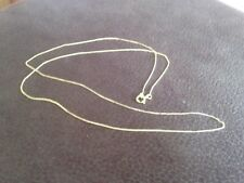 9 ct Yellow gold 16 In Diamond Cut Curb Chain / Necklace, not scrap, 0.42g, New