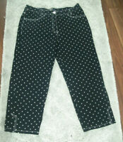 Michele Slim Leg Polka Dot Cropped Jeans Trousers Size 12