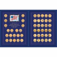 NEW The Complete Gold-Layered Statehood Quarter Collection 1999-2008 233