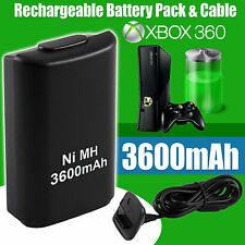 4800mah Rechargeable Battery Pack USB Charger Cable for Xbox 360 Controller UK