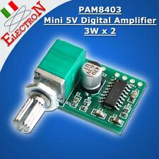 MODULO PAM8403 Mini 5V AMPLIFICATORE DIGITALE audio stereo + Volume regulation