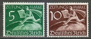 Germany 1939 MNH Mi Z738-Z739 Sc P1-P2 Newsboy and Globe ** Postman