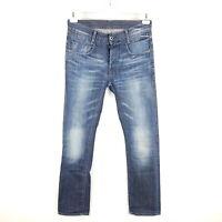 G-Star Jeans New Radar Slim Herren W32 L34 Blau Straight Faded Denim
