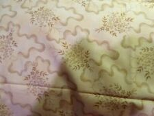 "Gail Kessler cotton fabric tan on tan print ""English Rose"" remnant 28 x 44"""