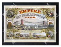 Historic Empire Sewing Machine Co. Ca 1870 Advertising Postcard